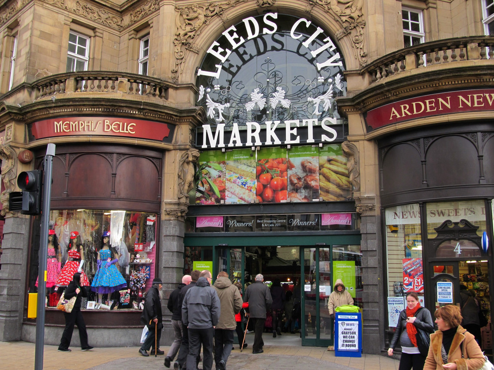 The entrance to Kirkgate Market in Leeds