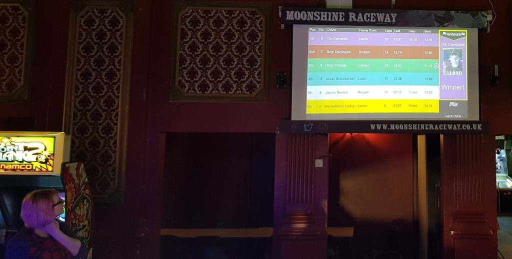 Racetrack in the arcade - Lady Chastity's Reserve by Handmade Mysteries, London escape room review by BeckyBecky Blogs