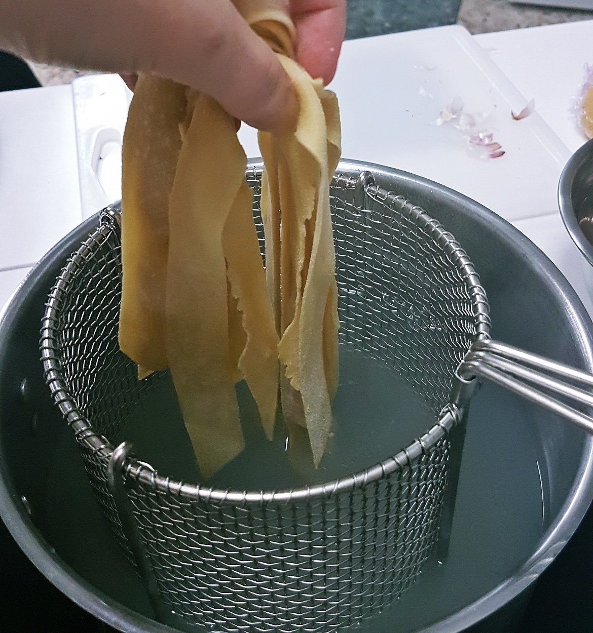 Cooking fresh tagliatelle - Leeds Cookery School review by BeckyBecky Blogs