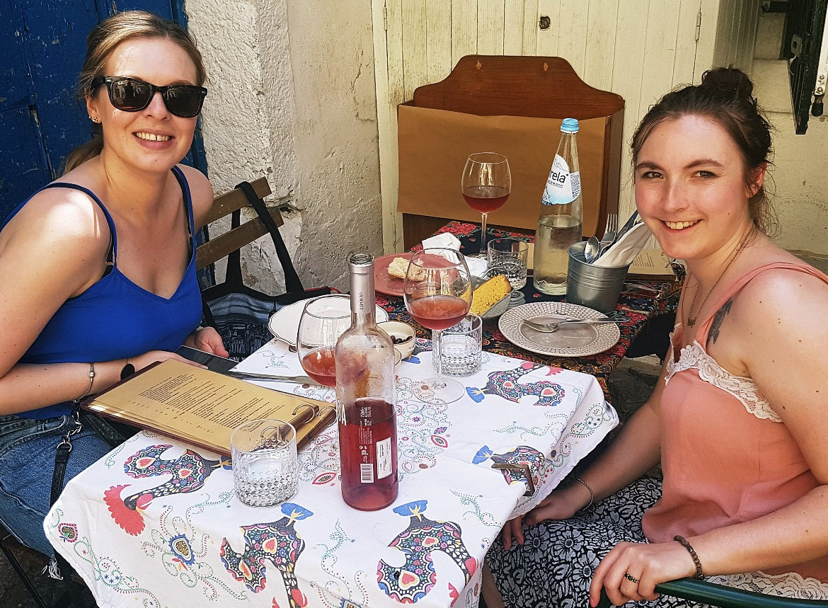 Our table at Restaurante O Conquistador - Food and Drink in Lisbon, review by BeckyBecky Blogs