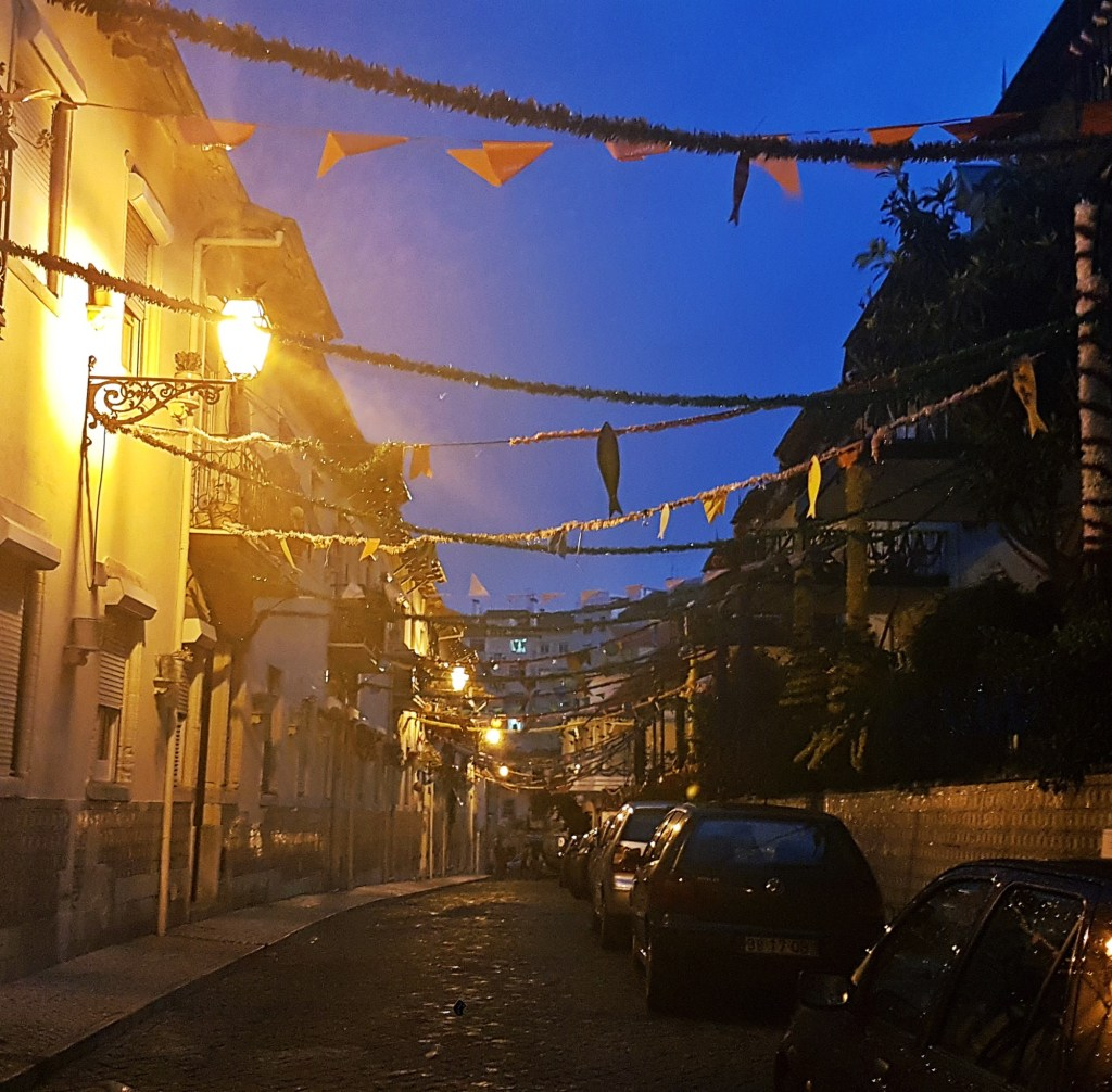 Streamers out for the Festival - Things to Do in Lisbon, Portgual, travel blog by BeckyBecky Blogs