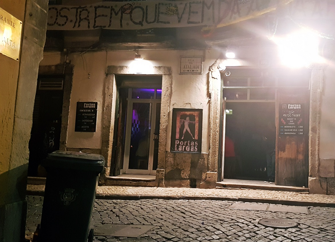 One of the best bars in Bairro Alto, Portas Largas - Tips for visiting Lisbon by BeckyBecky Blogs
