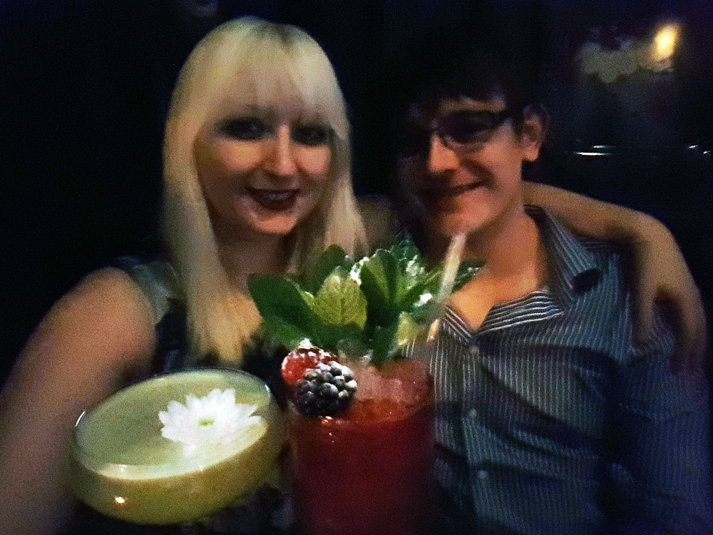Me and TC at Maven prohibition bar in Leeds