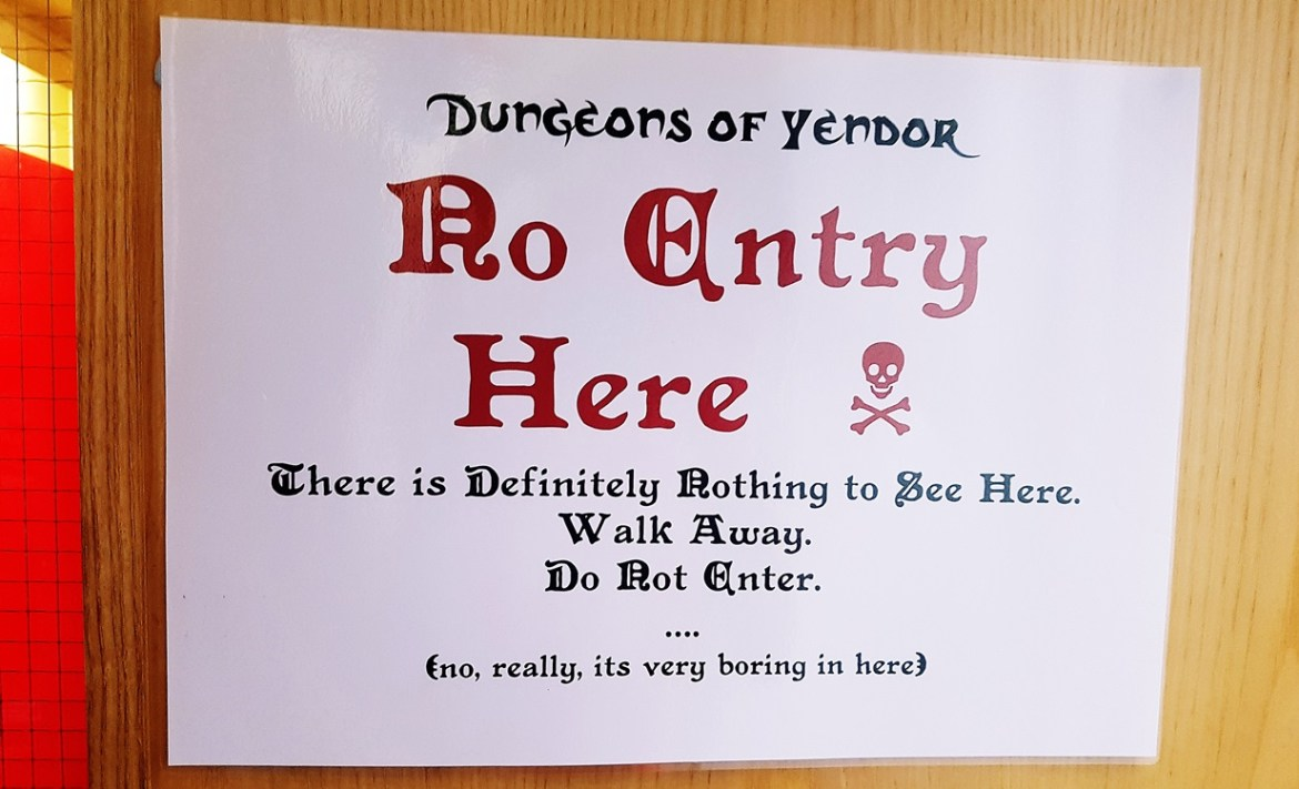 A Very Boring Room at the Dungeons of Yendor Megagame