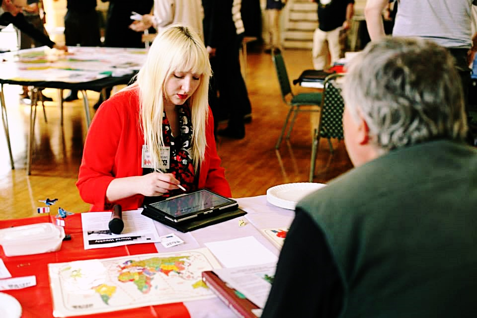 Playing Press at the first Watch The Skies Megagame - Three Years Megagaming by BeckyBecky Blogs