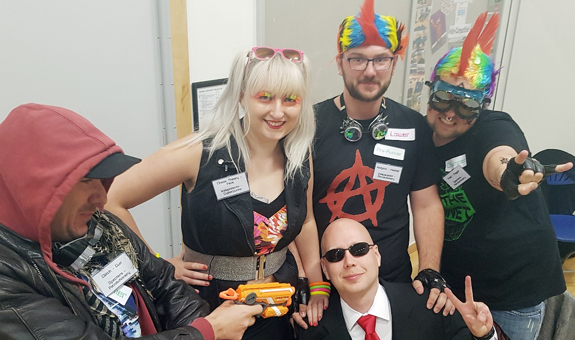 A selfie with the CEO of Ares - Mirrorshades megagame after action report by BeckyBecky Blogs