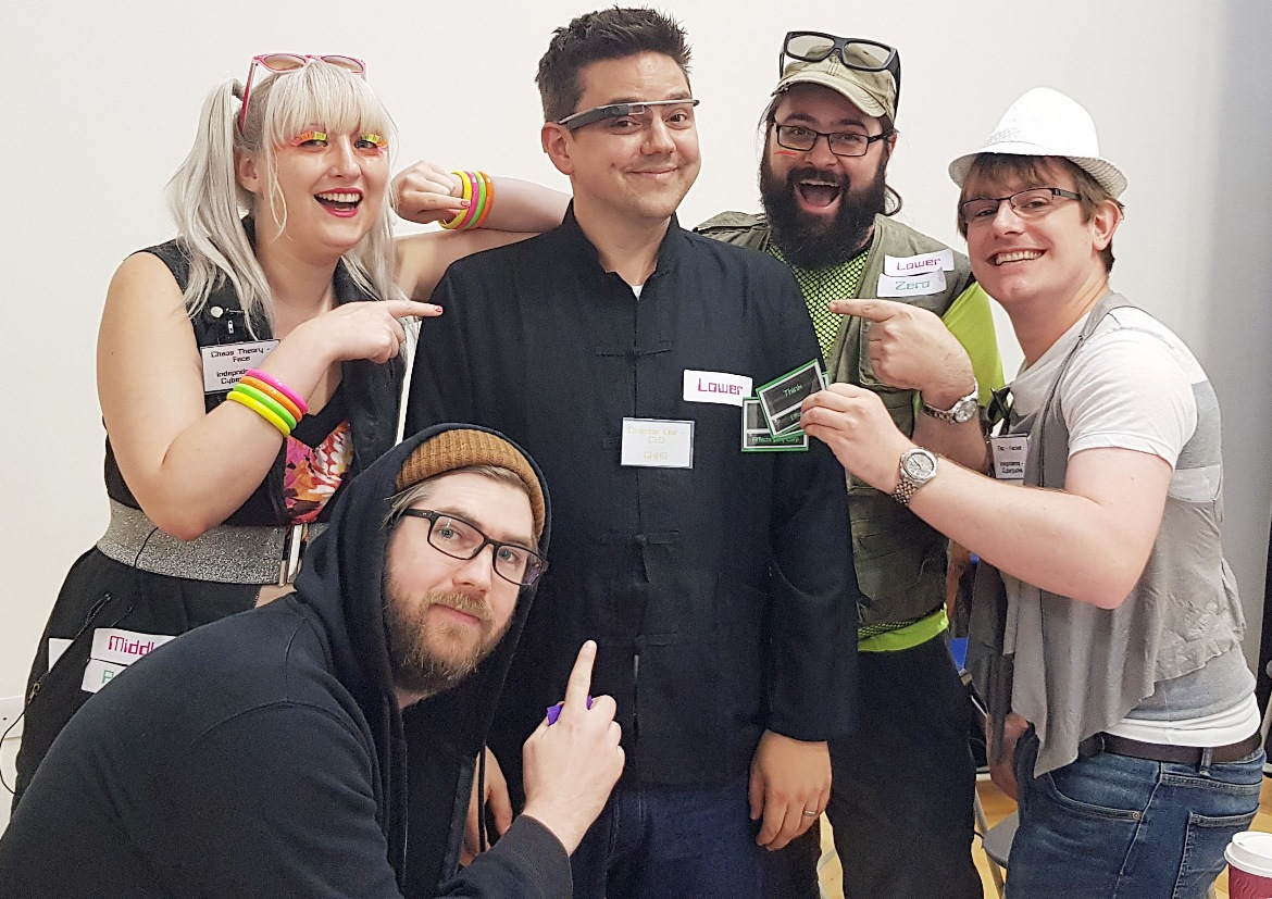 A selfie with the CEO of GHKS - Mirrorshades megagame after action report by BeckyBecky Blogs