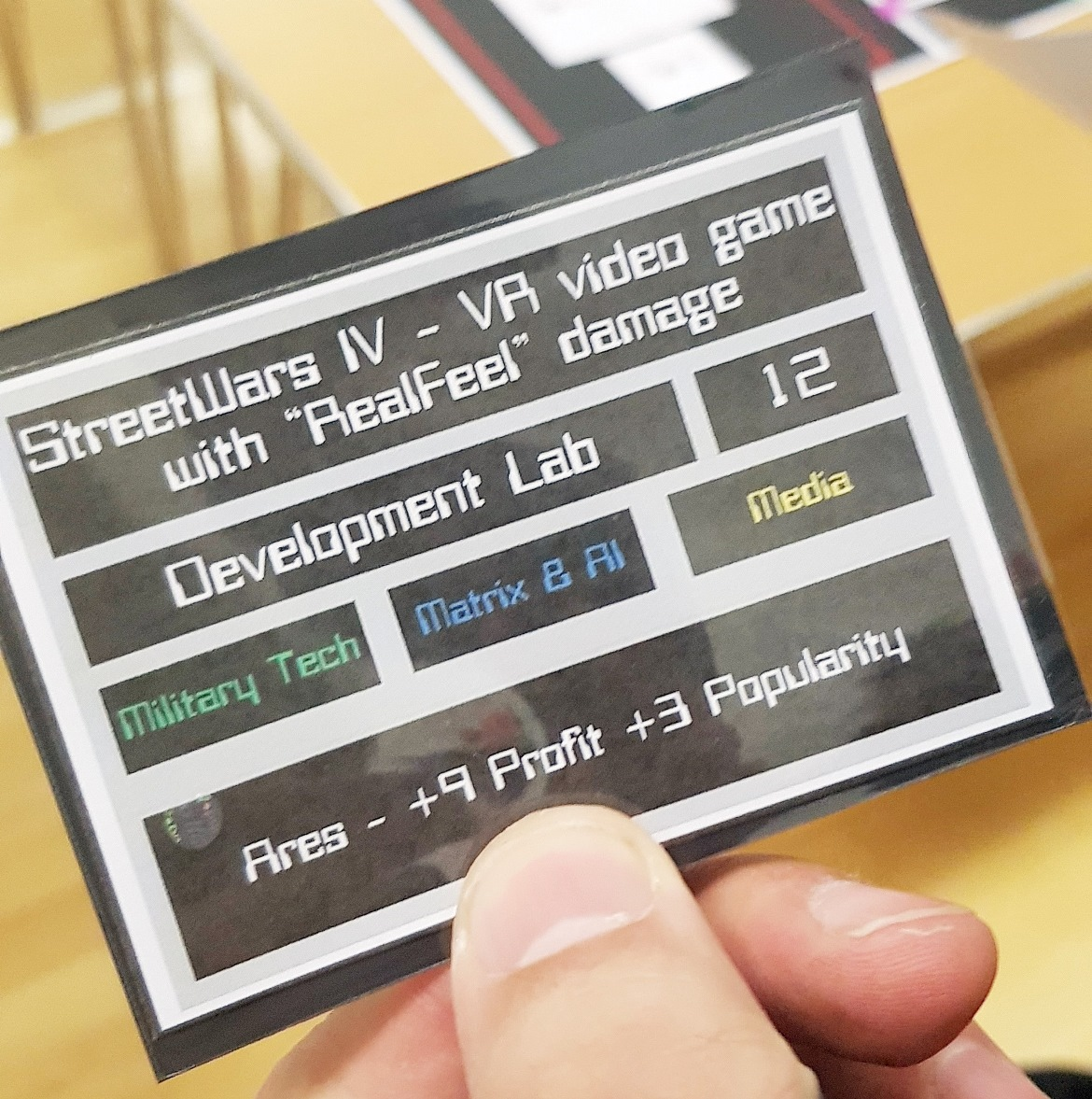 Video game plans from Ares - Mirrorshades megagame after action report by BeckyBecky Blogs