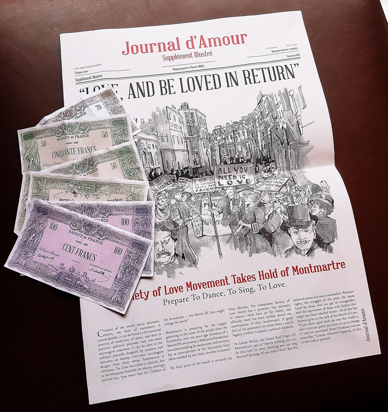 Journal d'Amour from the Moulin Rouge - Spoiler Free Secret Cinema tips by BeckyBecky Blogs