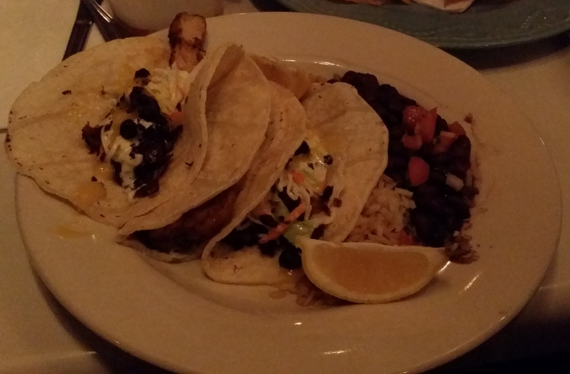 Fish Tacos at Cowgirl Seahorse - New York New York, travel blog by BeckyBecky Blogs