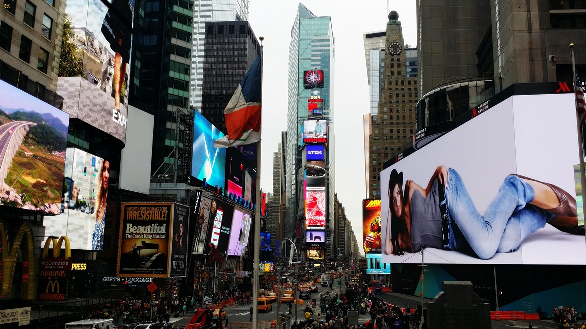 Times Square by day - New York New York, travel blog by BeckyBecky Blogs