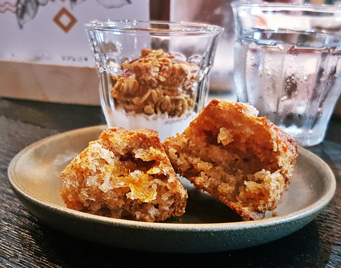Cheese scone and granola pot - Review of North Star Coffee Shop by BeckyBecky Blogs