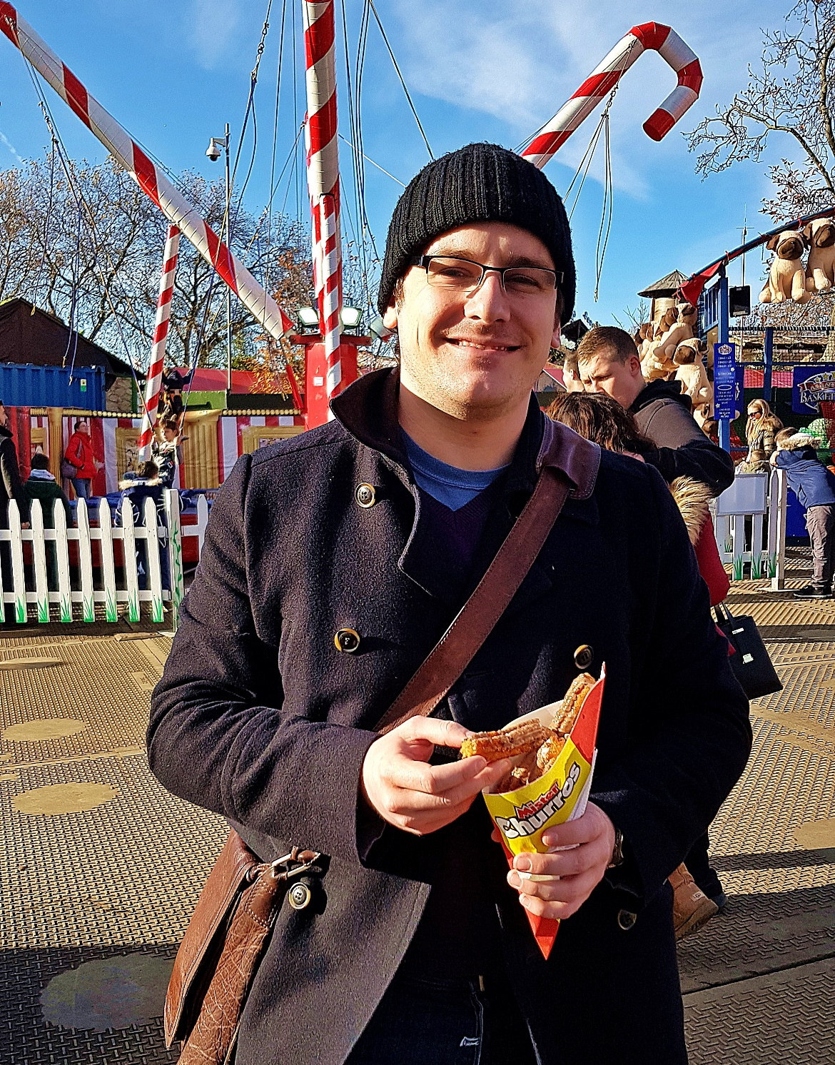 Tim at Winter Wonderland in Hyde Park - November Monthly Recap by BeckyBecky Blogs