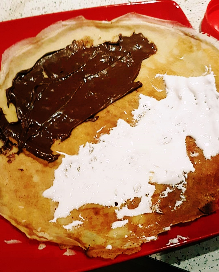 S'mores pancakes for my Pancake Day Pancake Recipe by BeckyBecky Blogs