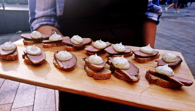 Duck canapes - Gin & Tonic Plus at Pintura, Bar Review by BeckyBecky Blogs