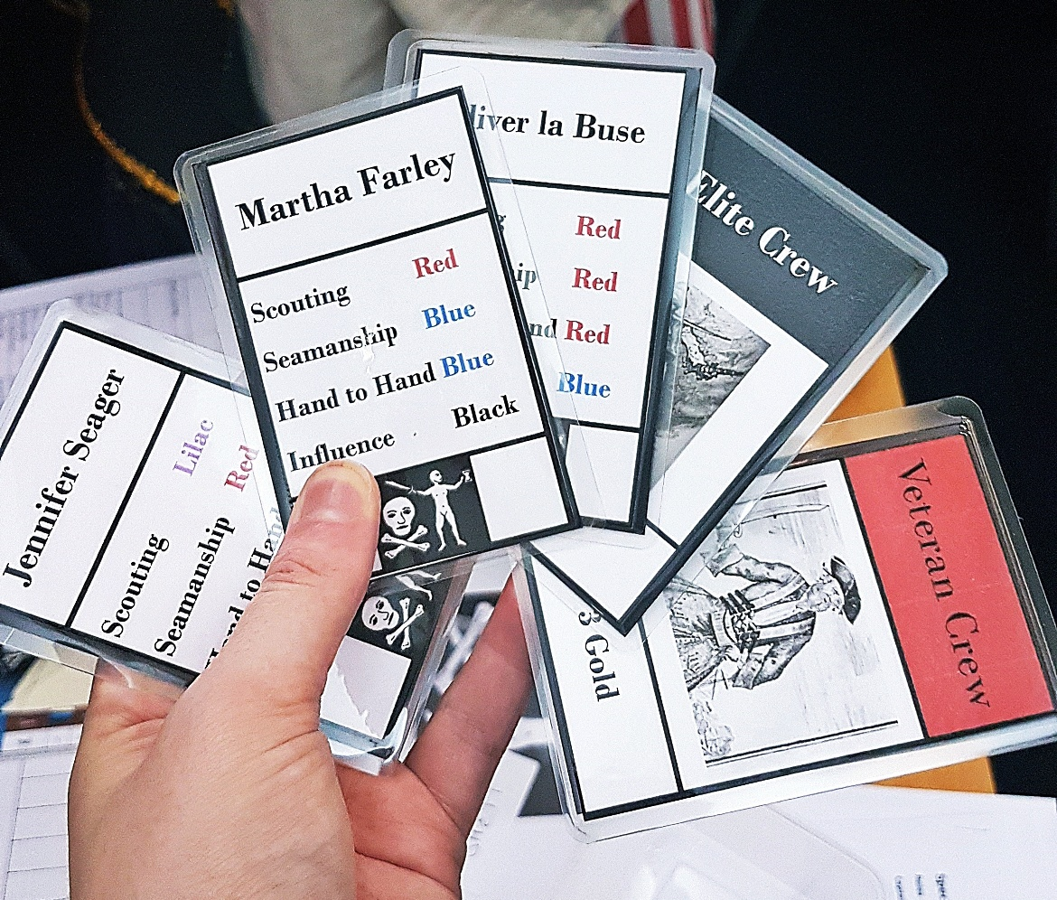 Crew cards for my team - The Pirate Republic Megagame After Action Report by BeckyBecky Blogs