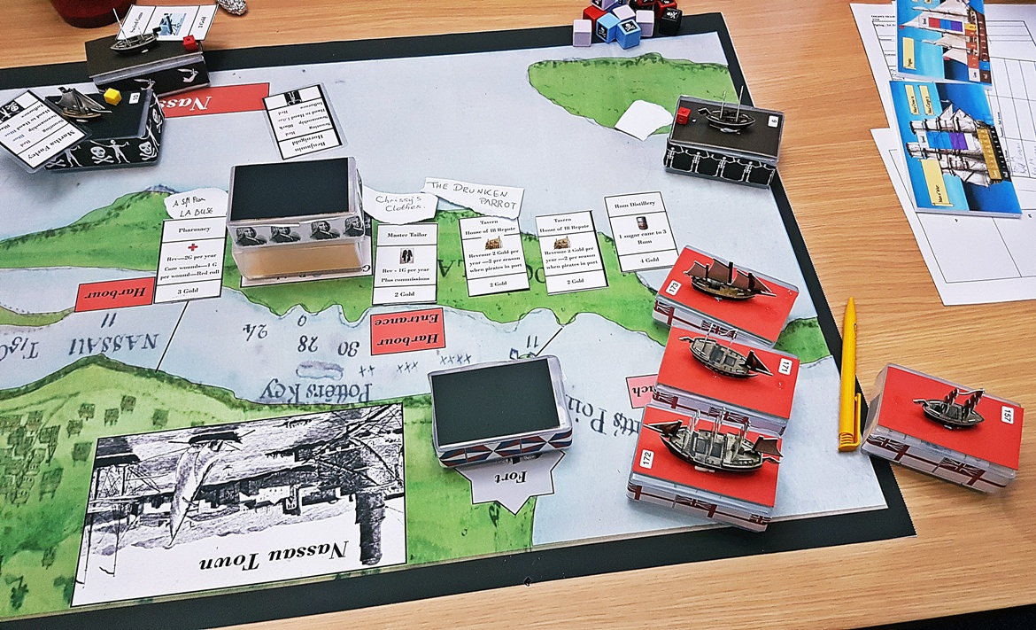The raid on Nassau - The Pirate Republic Megagame After Action Report by BeckyBecky Blogs