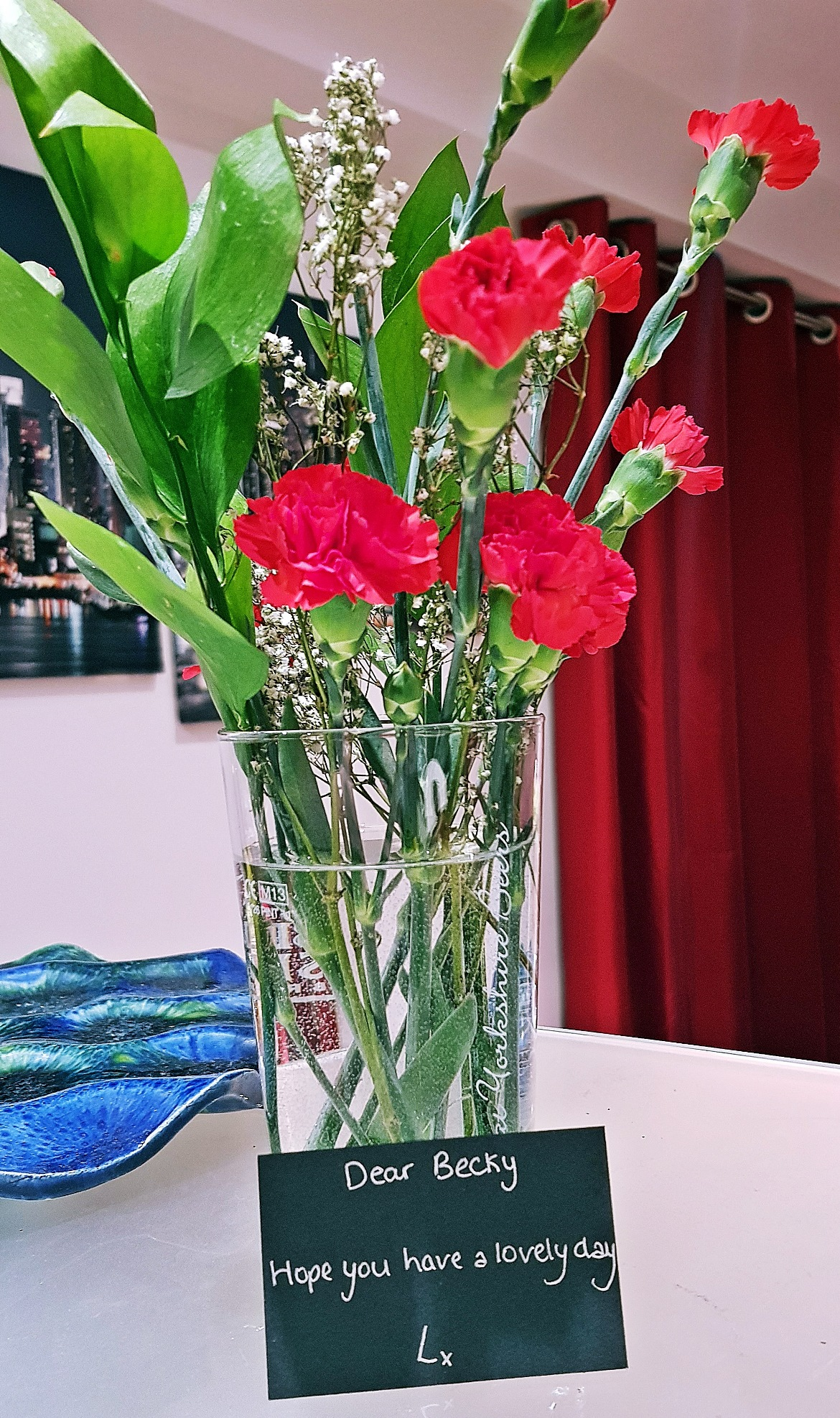 Red carnations from my Relationship Manager Lucy - The Lucky Ones, immersive theatre experience by Riptide Leeds, review by BeckyBecky Blogs