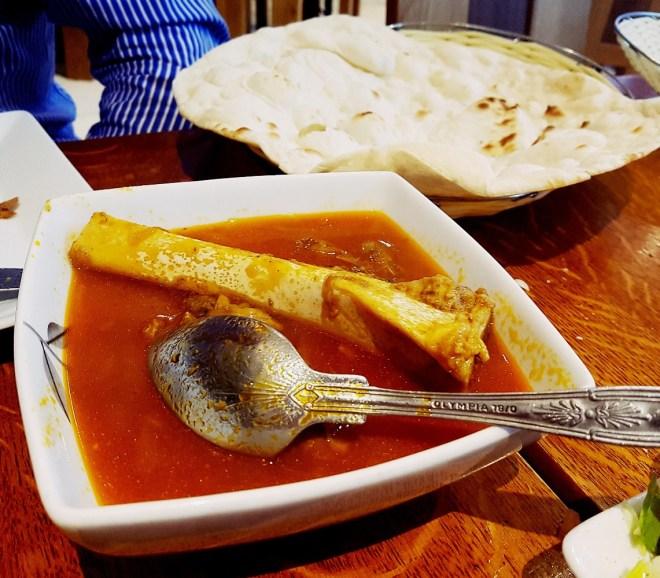 Mahicheh Lamb Stew at Safran Persian restaurant in Leeds