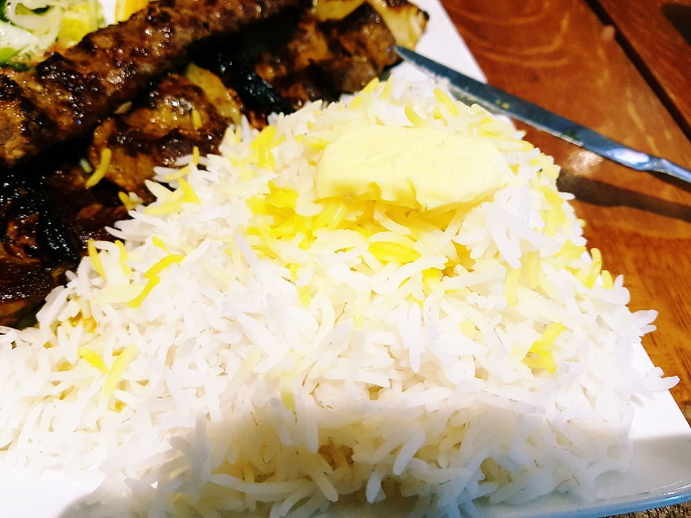 Rice with Butter at Safran Persian restaurant in Leeds
