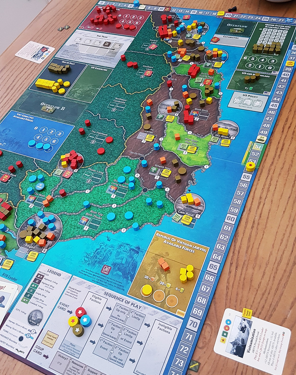 Fire in the Lake board game - September Monthly Recap by BeckyBecky Blogs
