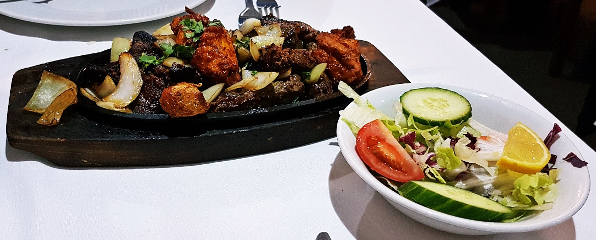Sizzling platter at Kashmiri near Ilkley - September Monthly Recap by BeckyBecky Blogs