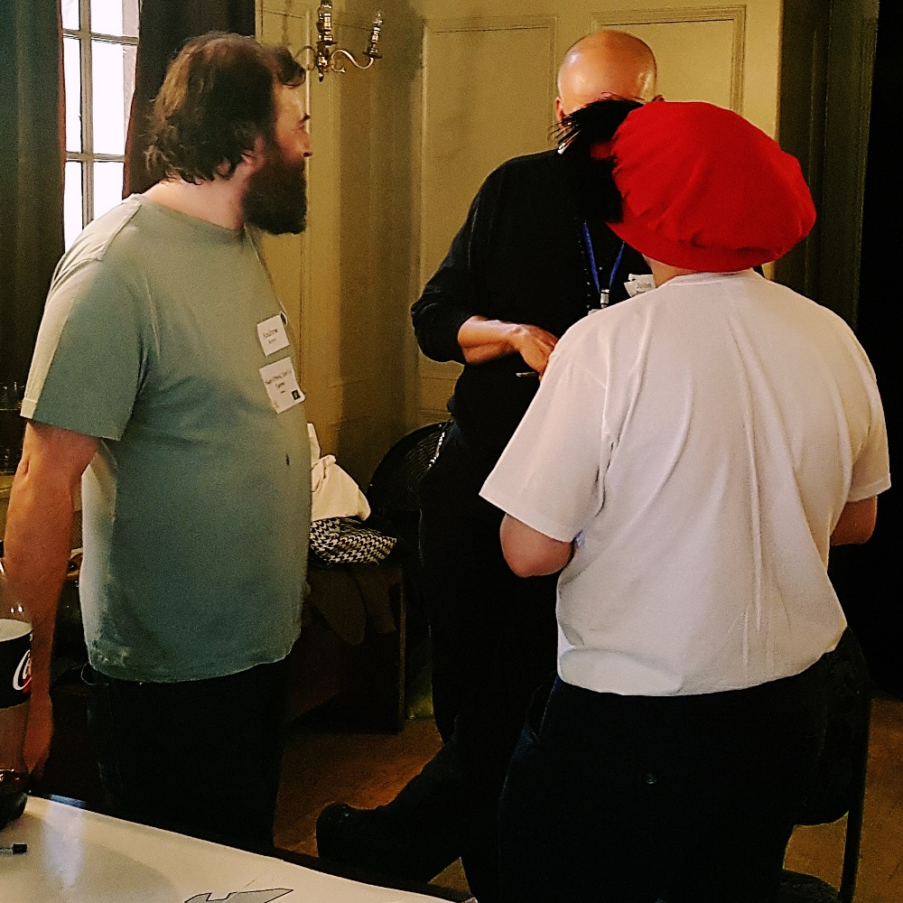 Negotiations between the English and Irish at the Spanish Road megagame