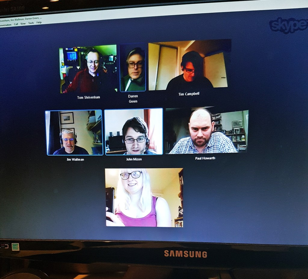 One of the early Skype meetings about UNSoC - Urban Nightmare: State of Chaos, the Wide Area Megagame, After Action Report by BeckyBecky Blogs