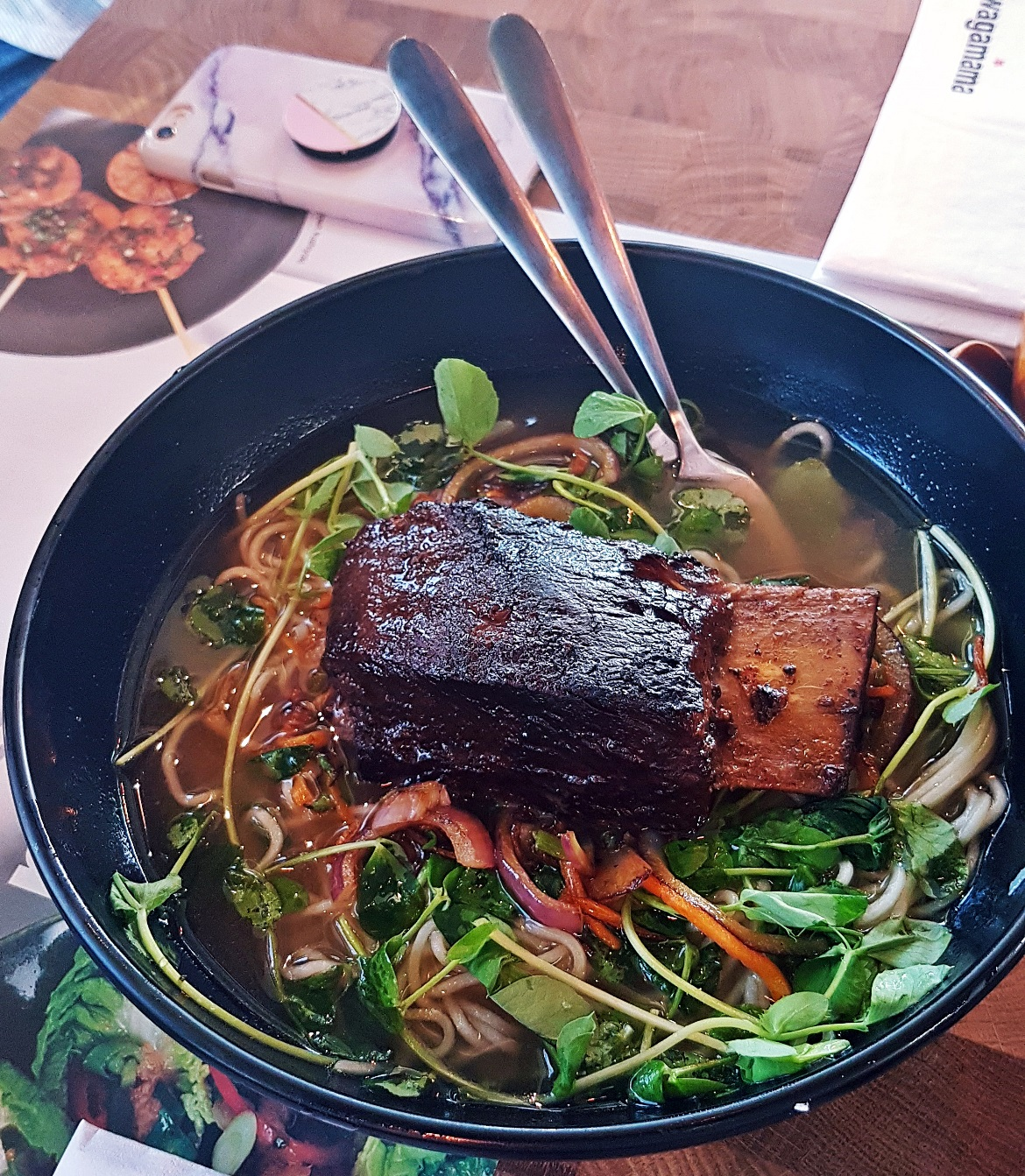 Short rib ramen - Wagamama Menu Pairing, Review by BeckyBecky Blogs