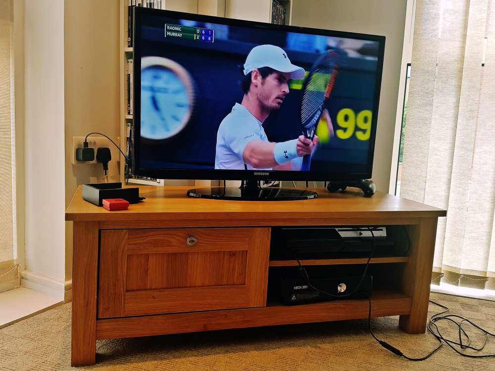 Andy Murray winning at our House Wimbledoning
