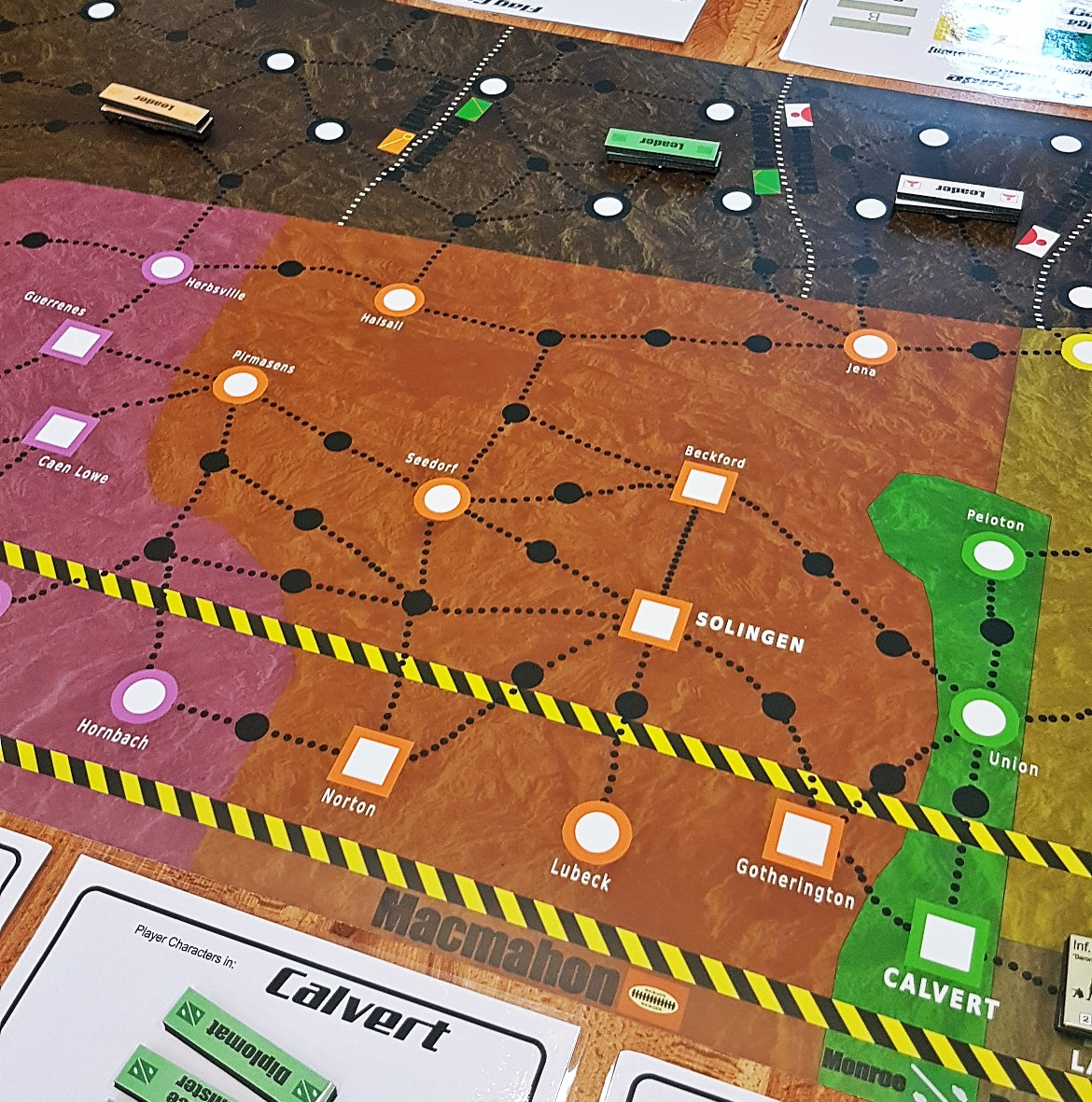 Macmahon at game start - A World Divided megagame after action report by BeckyBecky Blogs