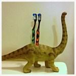Dinosaur Toothbrush Holder: Pinterest SUCCESS