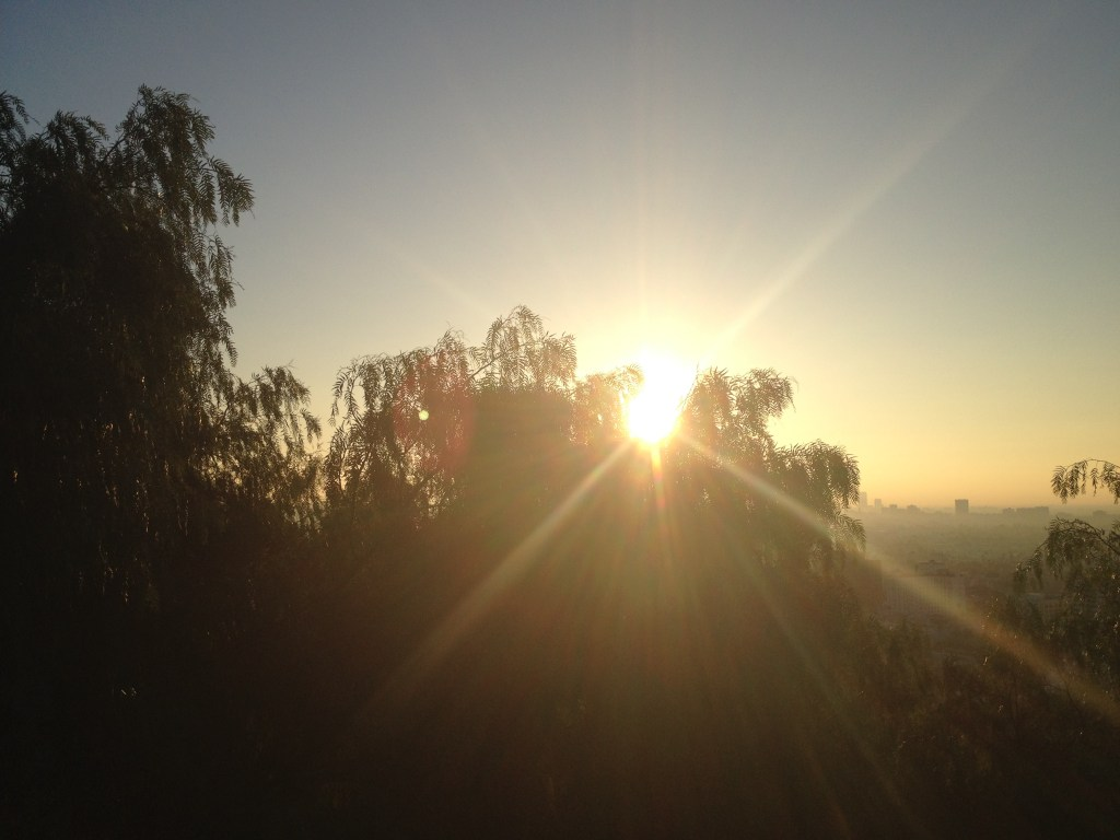 Sun rise from Runyan Canyon