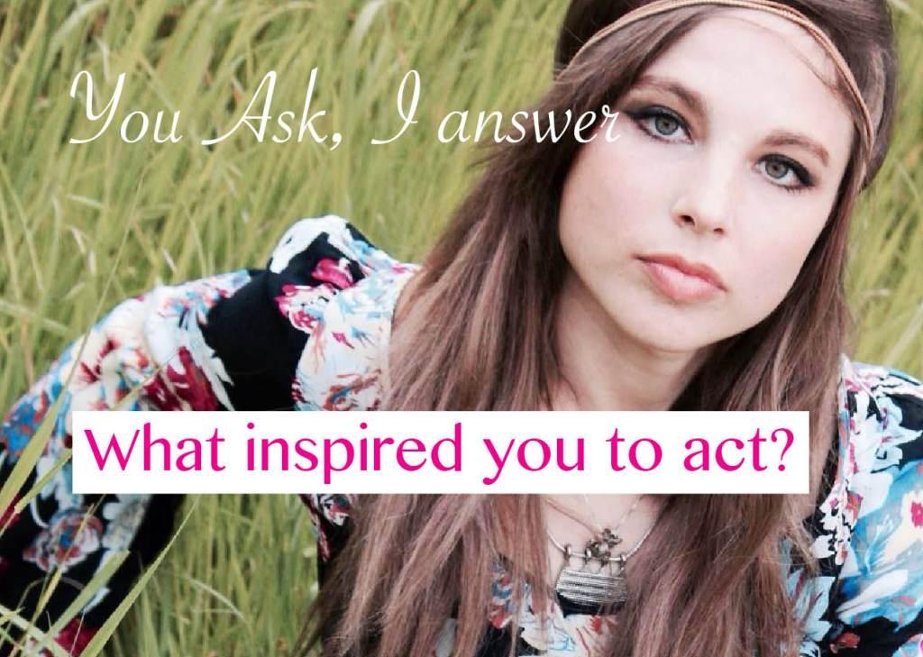 Youask I answer