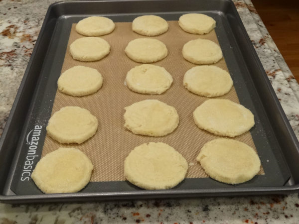 cookies placed on baking sheet