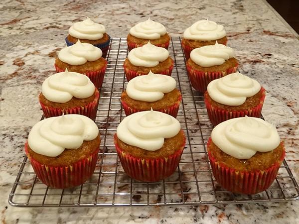 pumpkin carrot cupcakes