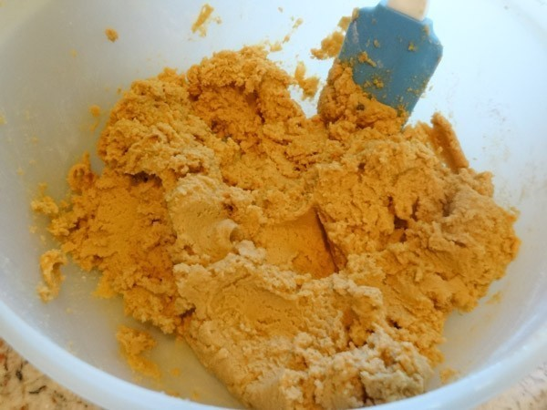 batter for peanut butter cookies