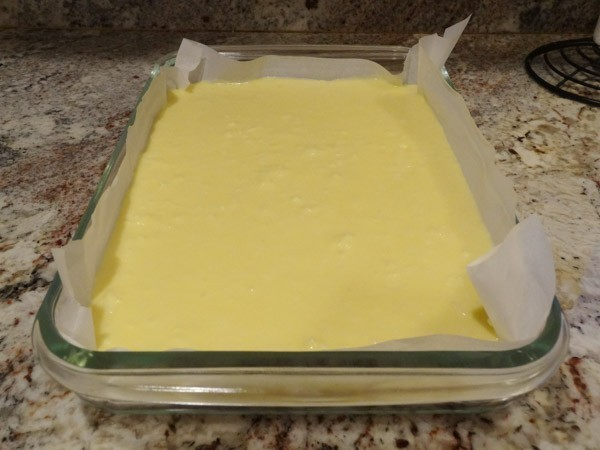 filling added to crust layer