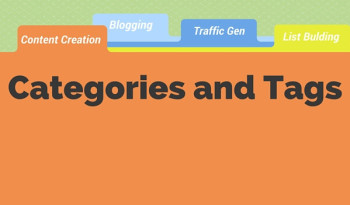 Organize your content into categories