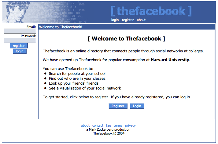 Thefacebook Login Page