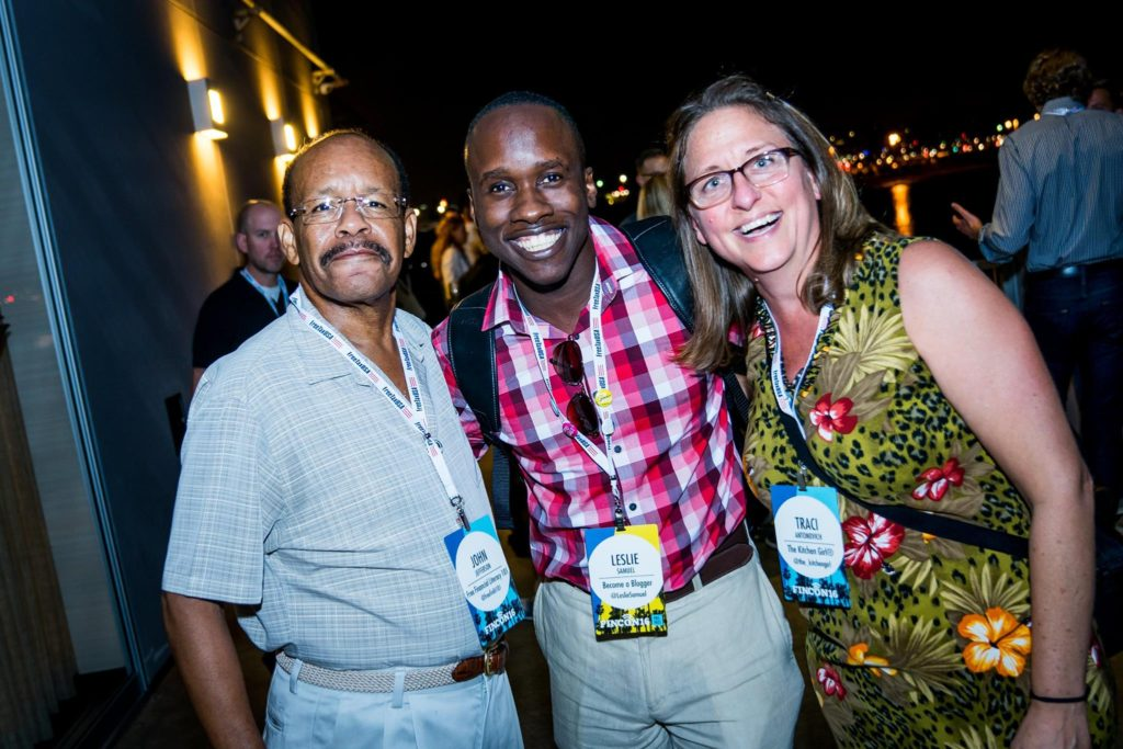 Myself with John and Traci at FinCon 2016.