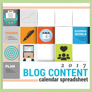 2017 Blog Content Calendar