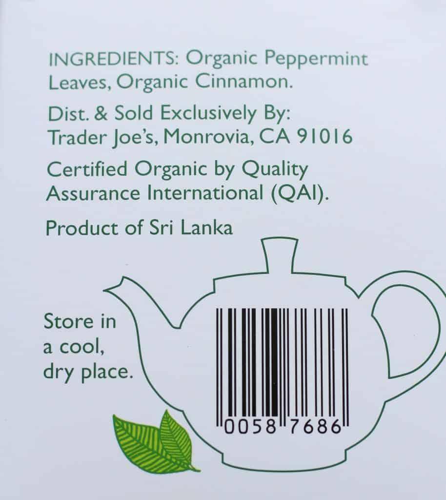 Trader Joe's Organic Peppermint Cinnamon Tea | BecomeBetty.com