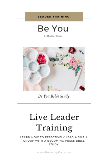 Live Leader Training Be Your Bible Study