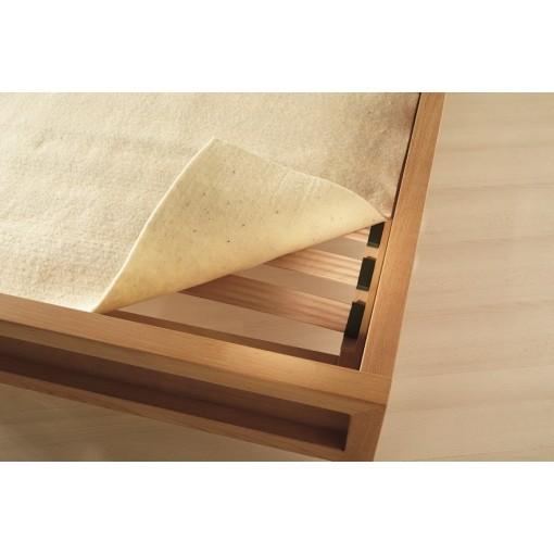 Wollen matrasonderlegger matrasbeschermer lattenbodem wol