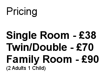 Bed and Breakfast Tariff « Bed and Breakfast in Beverley