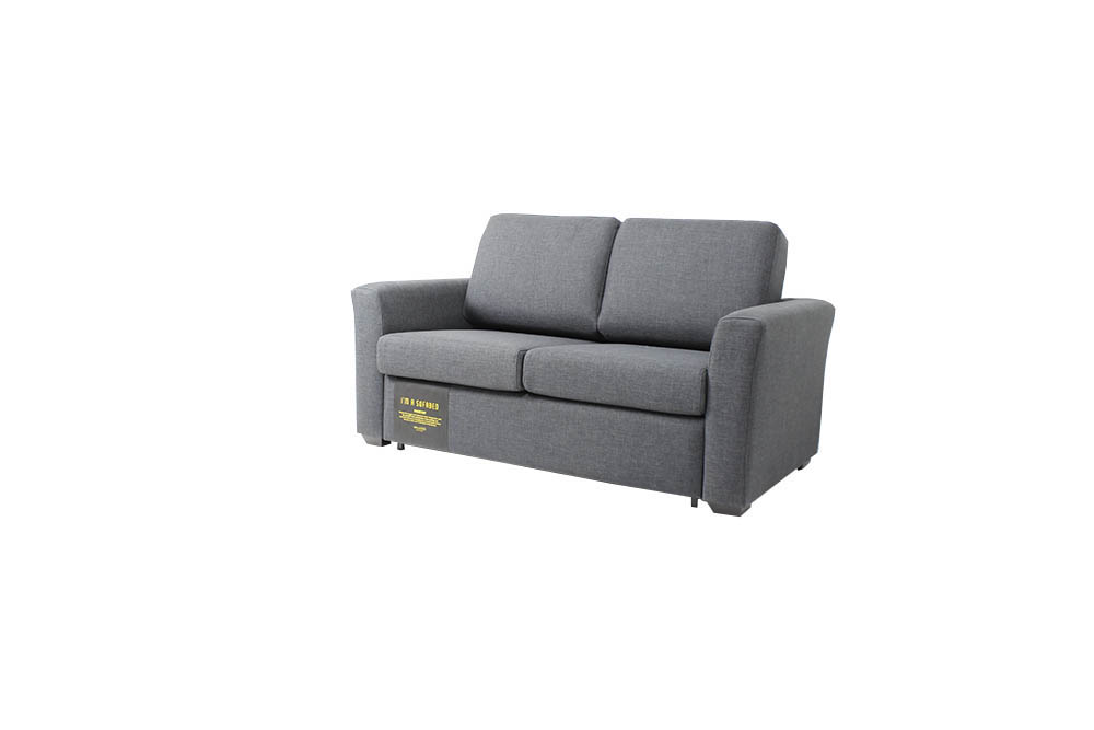 au sofa bed old fashioned chairs donovan bedandsofa com grey colored fabric has glide out