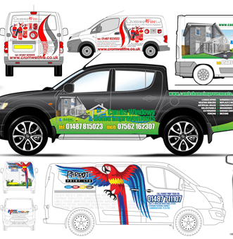 A small selection of vehicle liveries from Bedazzled Graphic Design