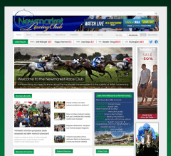 Newmarket Racing Club website created based on a content managed source code built using adobe Software & HTML, Javascript & CSS
