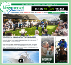 Newmarket Trainers website created based on a content managed source code built using adobe Software & HTML, Javascript & CSS